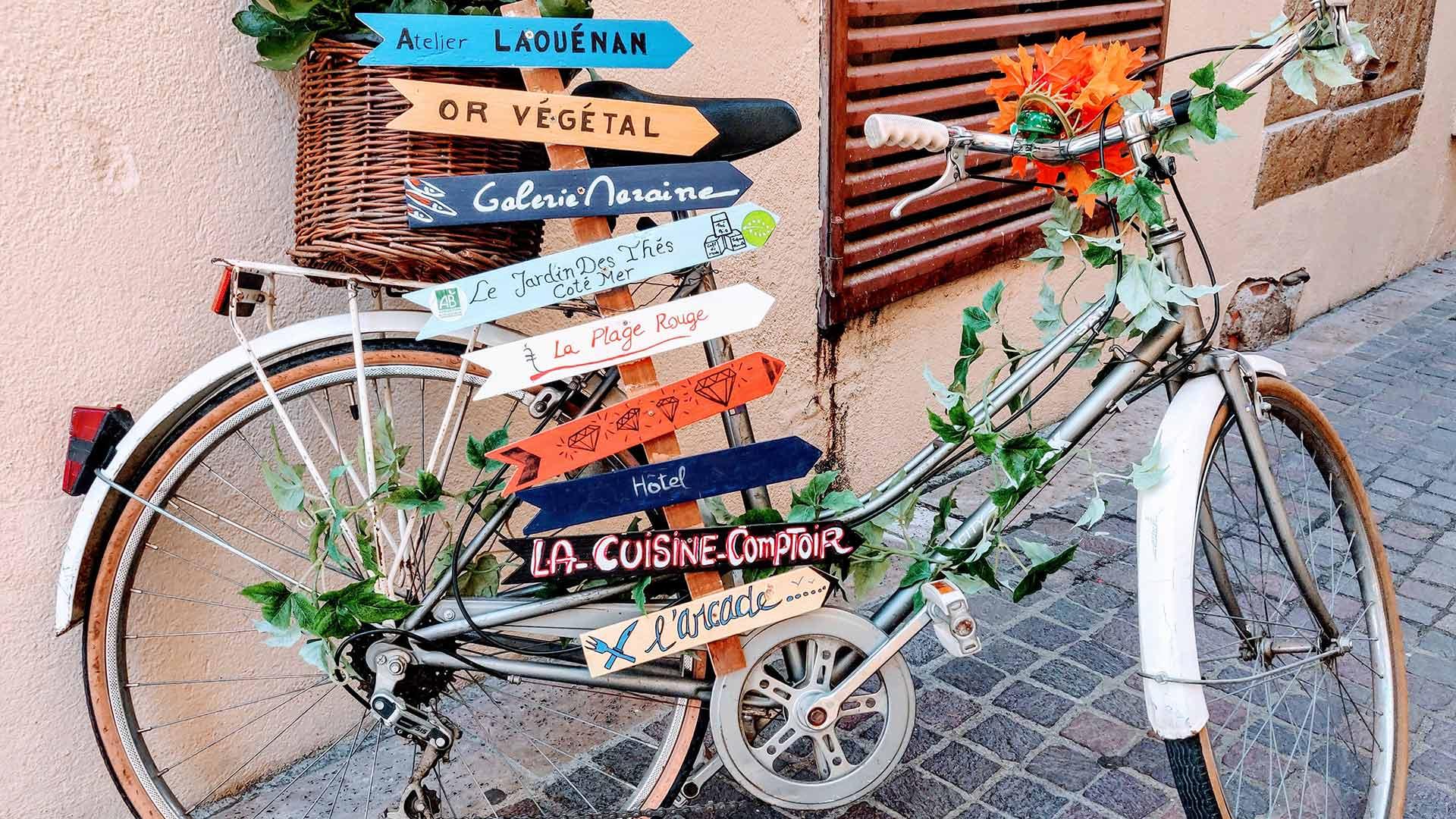 Vélo décoré vacances banyuls sur mer