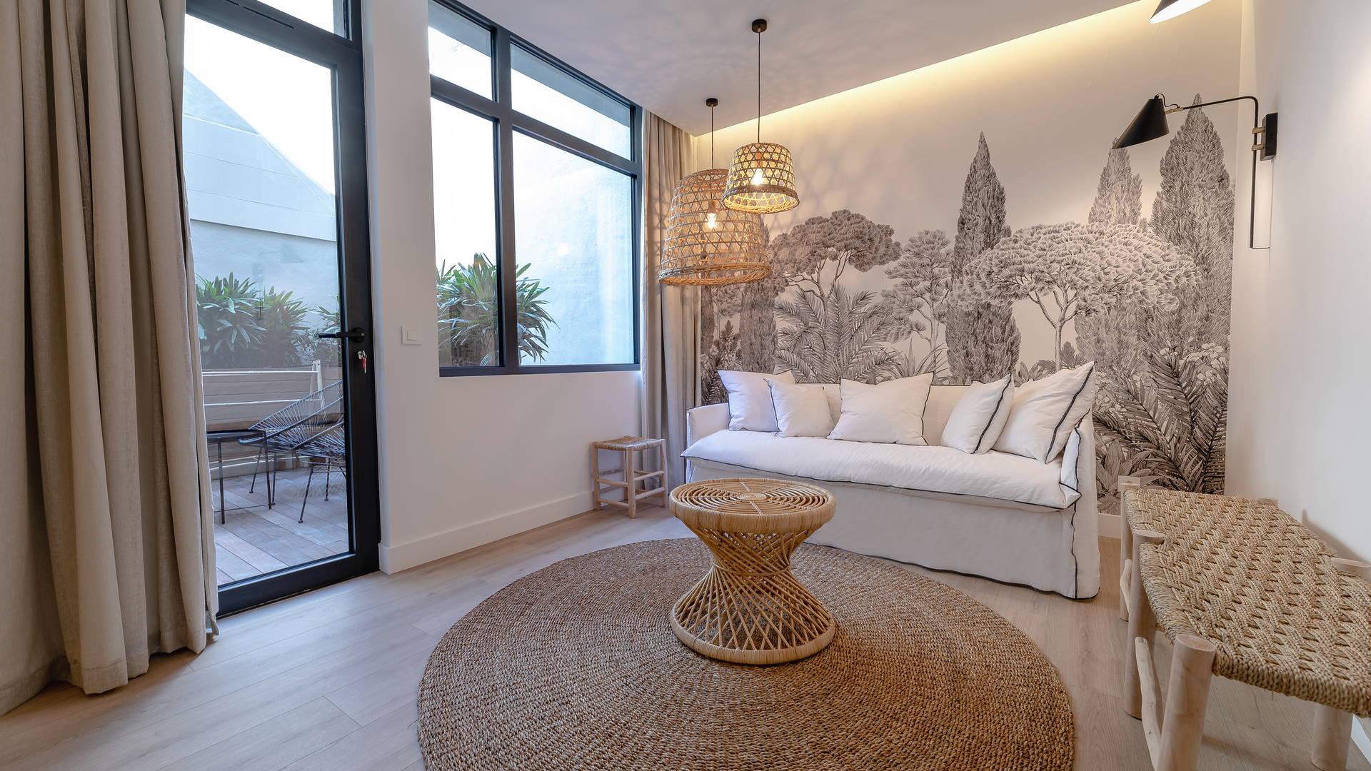 Salon moderne appartement pyrénées orientales