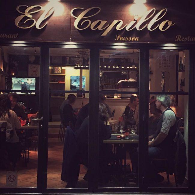 Reastaurant El Capillo, à côté de notre hôtel à Collioure.