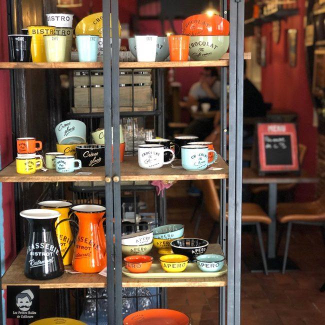 Le restaurant Les petites halles de Collioures, près des Suites de Collioures.